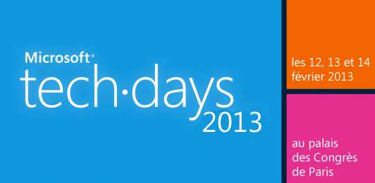 Microsoft tech.days 2013