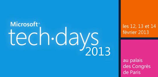 Microsoft tech.days 2013