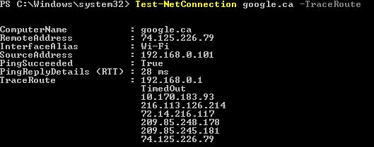 Test-Net-Traceroute